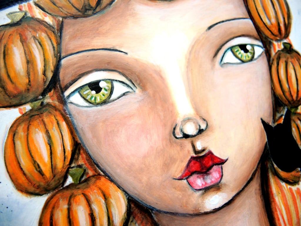 Pretty Pumpkins - Halloween front facing portrait
